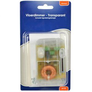 Vloerdimmer transparant 230v 60-500 watt