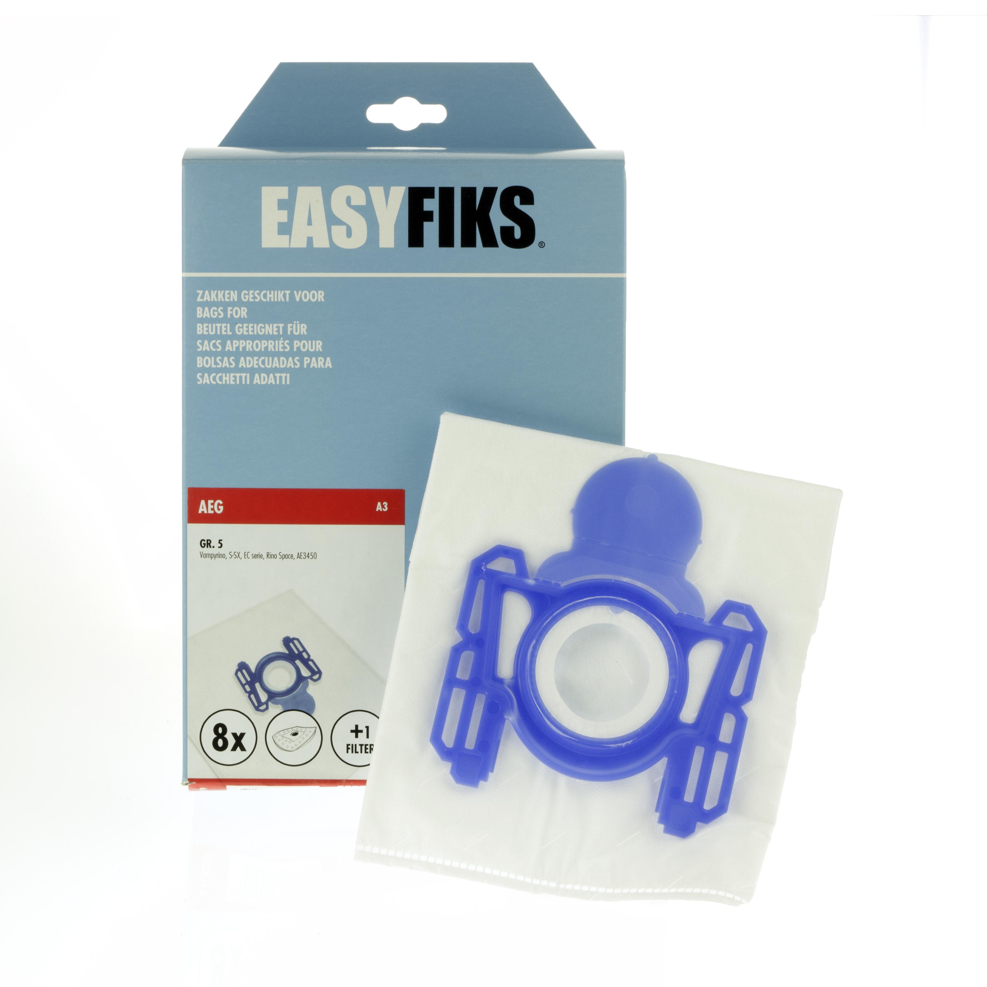 AEG A3 stofzakken Gr.5 8stuks + filter 60102256