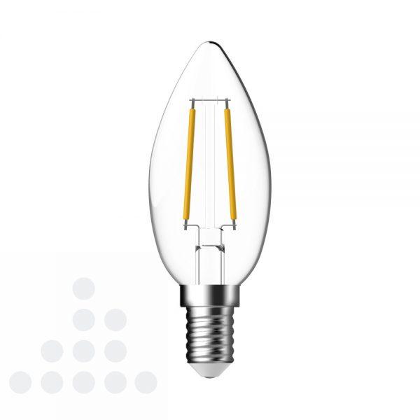 Energetic LED kaars helder filament E14 / 2.5w 250 lumen