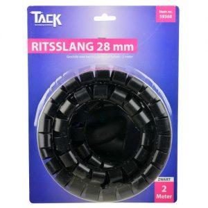 Ritsslang 28mm 2 meter zwart