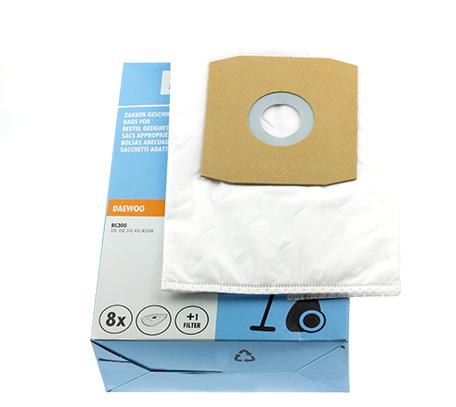 Daewoo D08 stofzakken RC300 61202026 8 stuks + filter