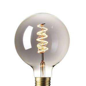Calex flex filament titanium globe led lamp 425783led-lamp