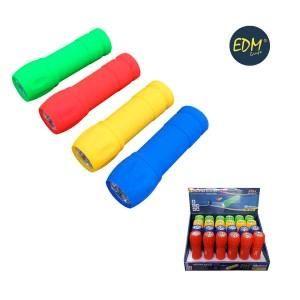 zaklamp 9leds incl. batterijen 4 kleuren