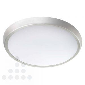Plafondlamp LED 12 watt dimbaar nikkel geborstelde rand