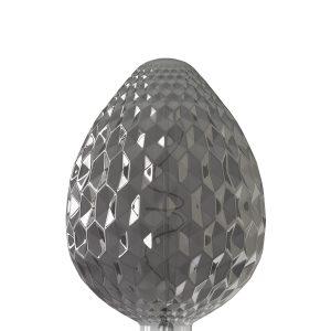 Calex Sevilla 150x245mm Led lamp 240V 4W 60lm E27, Titanium 2100K dimbaar