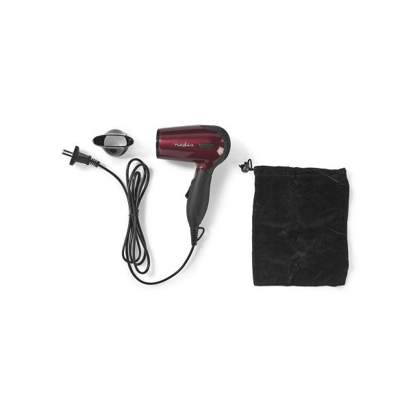 Inklapbare reisföhn 1200 watt 120 - 230 volt