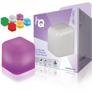 Tafellampje RGB led kubus op batterijen