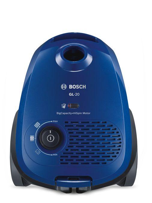Bosch stofzuiger GL20 blauw compact en lichtgewicht