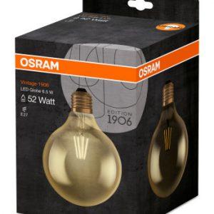 Osram LED Globe Vintage ed1906 gold coating 7 watt 650 lumen